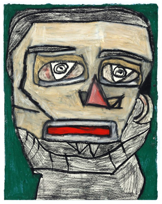 Clifton Wright, Borrowed Picasso Portrait, 2017, Pastel and graphite on paper