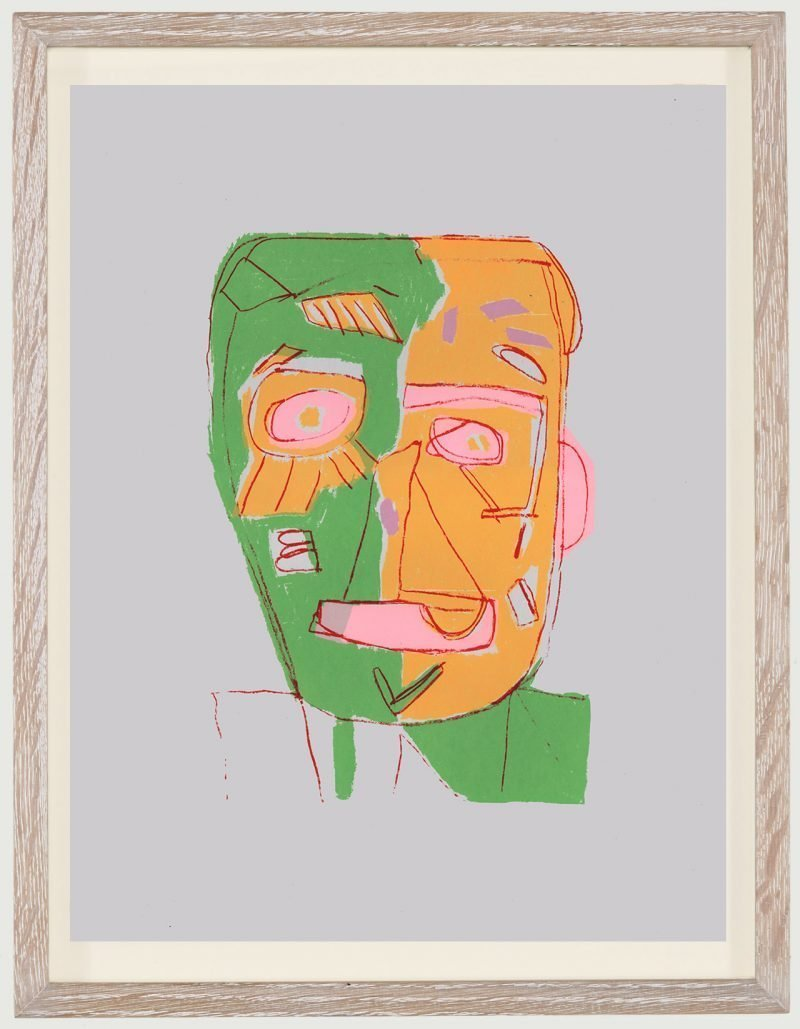 Clifton Wright, Cracked Face - Grey, Edition, 2019
