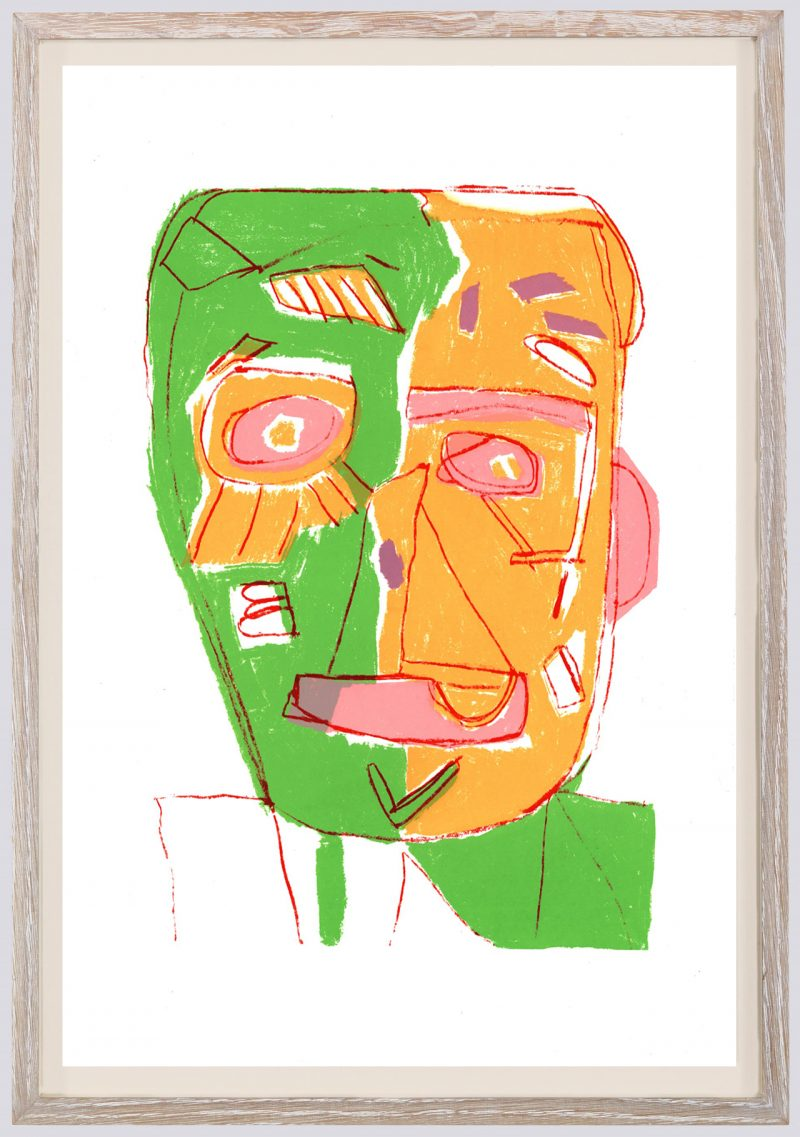Clifton Wright, Cracked Face - White, Edition, 2019
